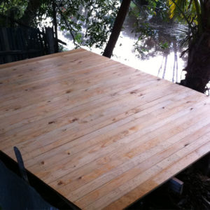 Recycled Timber Deck Job Queensland