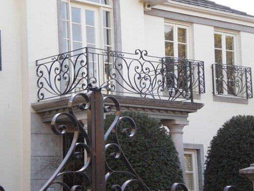 Outside – Wrought Iron Balustrade